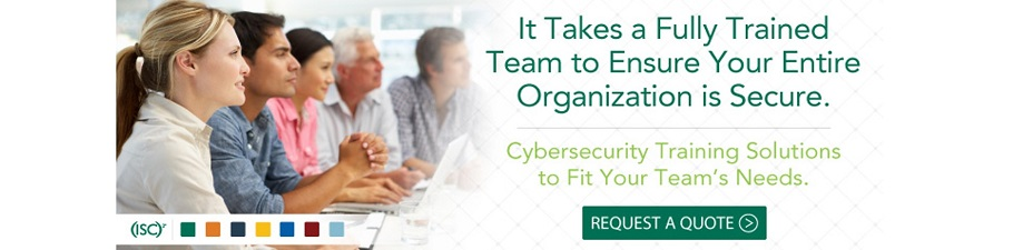 确保组织的整体安全需要一支训练有素的安全团队,(ISC)²官方培训将满足您团队的培训需求!
